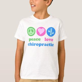 Camiseta T-shirt da quiroterapia do amor da paz