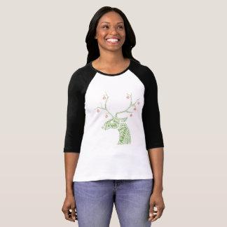 Camiseta T-shirt da rena de Wordart do Natal