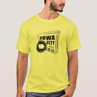 Camiseta T-shirt da rocha de Iowa City do rolamento