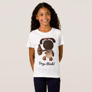 Camiseta T-shirt da rocha dos cães para meninas
