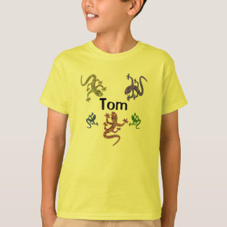 Camiseta T-shirt da salamandra de Tom - design tomado