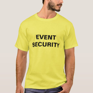 Camiseta T-shirt da segurança do evento