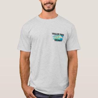 Camiseta T-shirt da segurança do parque de caravanas