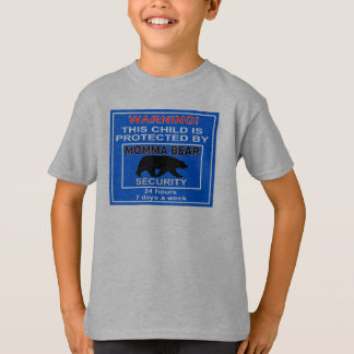 Camiseta T-shirt da segurança do urso de Momma