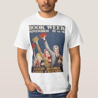 Camiseta T-shirt da semana de livro de 1940 crianças
