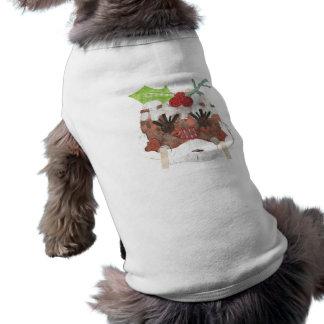 Camiseta T-shirt da Senhora Pudim Nenhum Fundo Doggy