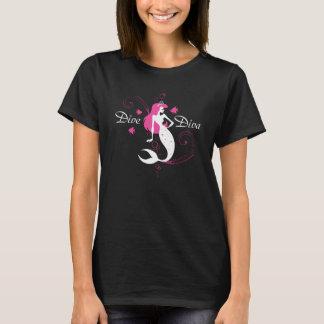 Camiseta T-shirt da sereia da diva da diva