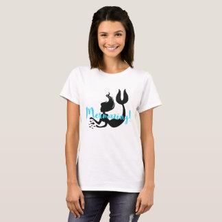Camiseta T-shirt da sereia da inscrição de Mermazing