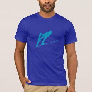 Camiseta T-shirt da silhueta da ligação em ponte de esqui