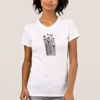 Camiseta T-shirt da silhueta do dente-de-leão do código de