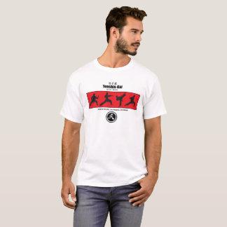 Camiseta T-shirt da silhueta do karaté de Tenshin-Kai