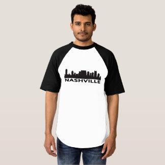 Camiseta T-shirt da skyline de Nashville Tennessee