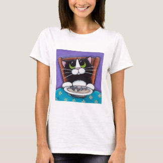 Camiseta T-shirt da sopa da cauda dos peixes