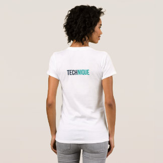 Camiseta T-shirt da técnica das mulheres (branco)