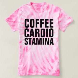 Camiseta T-shirt da tintura do laço do rosa do VIGOR do
