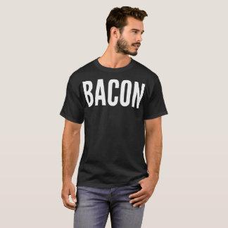 Camiseta T-shirt da tipografia do bacon