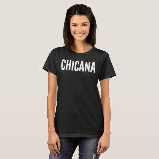 Camiseta T-shirt da tipografia do texto de Chicana