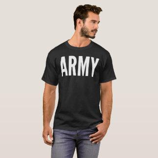 Camiseta T-shirt da tipografia do texto do exército