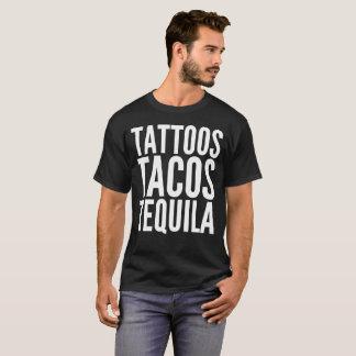 Camiseta T-shirt da tipografia do texto do Tequila do Tacos