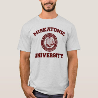 Camiseta T-shirt da universidade de Miskatonic