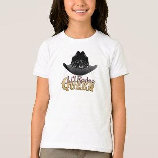 Camiseta T-shirt da vaqueira da rainha do rodeio de Li'l