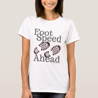 Camiseta T-shirt da velocidade do pé adiante que caminha