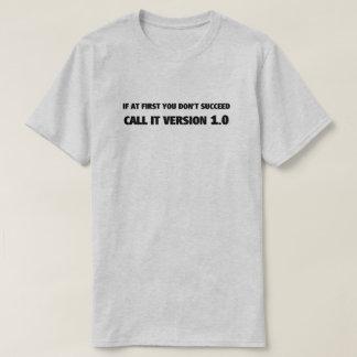 Camiseta T-shirt da versão 1,0