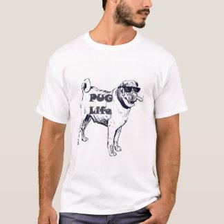 Camiseta T-shirt da vida do Pug
