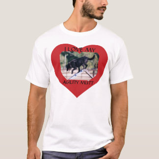 Camiseta T-shirt da vira-lata da agilidade - personalizado
