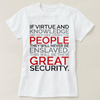 Camiseta T-shirt da virtude & do conhecimento