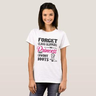 Camiseta T-shirt das botas de vaqueiro da princesa