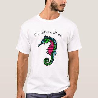 Camiseta T-shirt das caraíbas do mergulho do cavalo marinho