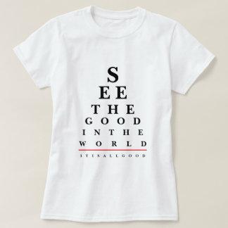Camiseta T-shirt das citações da carta de olho
