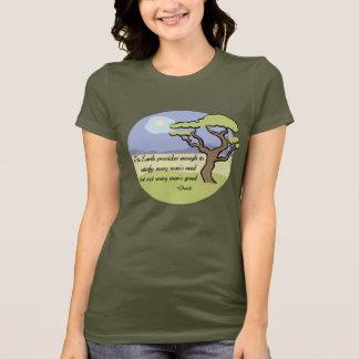 Camiseta T-shirt das citações da terra de Gandhi