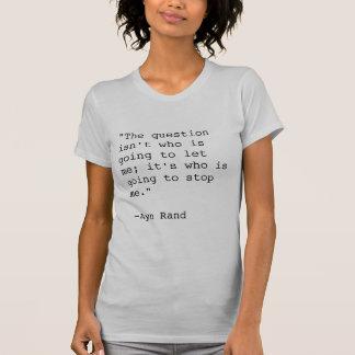 Camiseta T-shirt das citações de Ayn Rand