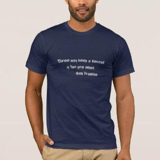 Camiseta T-shirt das citações de Ben Franklin