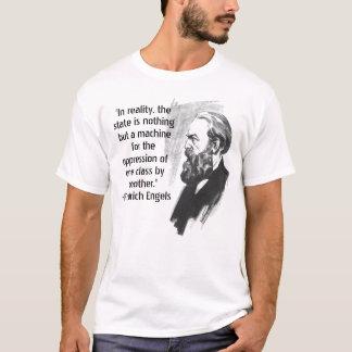 Camiseta T-shirt das citações de Friedrich Engels