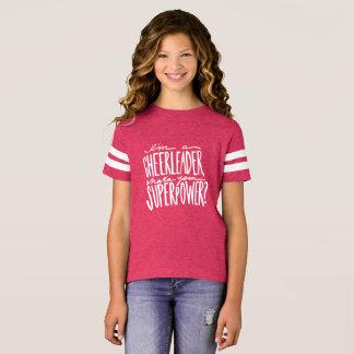 Camiseta T-shirt das citações do cheerleader para meninas