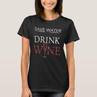 Camiseta T-shirt das citações do vidro de vinho: Provérbios