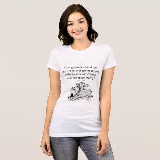 Camiseta T-shirt das citações dos direitos dos animais