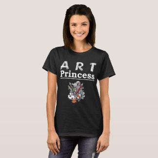 Camiseta T-shirt das cores das escovas da princesa pinturas