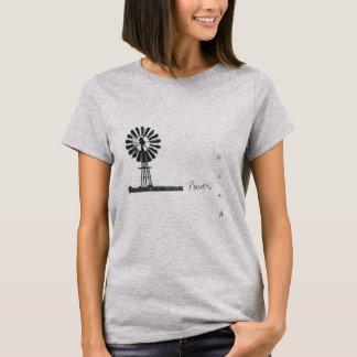 Camiseta T-shirt das energias eólicas