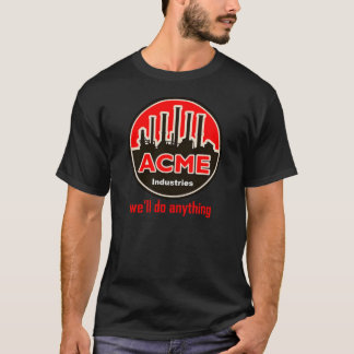 Camiseta t-shirt das indústrias do Acme