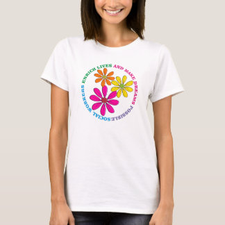Camiseta T-shirt das margaridas do assistente social