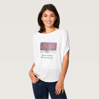 """Camiseta T-shirt das memórias mornas da lavanda """"tempo"""