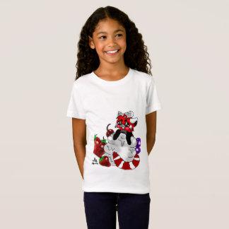 Camiseta T-shirt das meninas da panda vermelha do Sweety