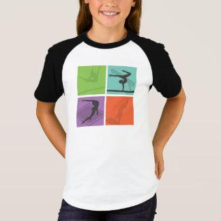 Camiseta T-shirt das meninas da reunião da ginástica (do