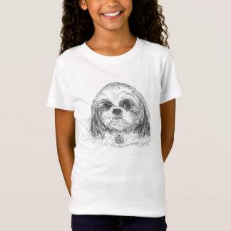 Camiseta T-shirt das meninas de Shih Tzu