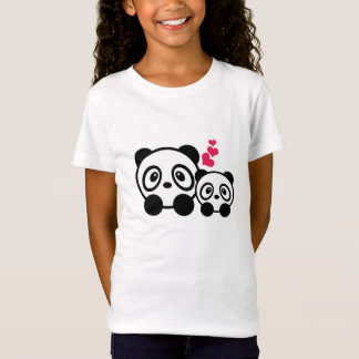 Camiseta T-shirt das meninas do casal da panda