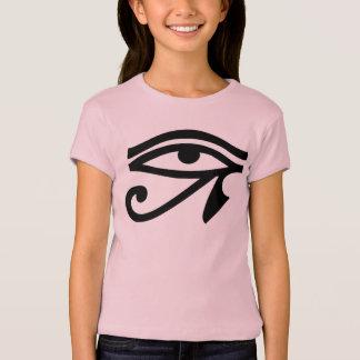 Camiseta T-shirt das meninas do símbolo do olho de Egipto